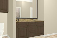 Dream House Plan - Country Interior - Master Bathroom Plan #44-197