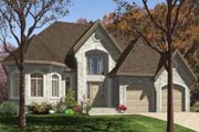 European Style House Plan - 2 Beds 1.5 Baths 1568 Sq/Ft Plan #138-102 Exterior - Front Elevation