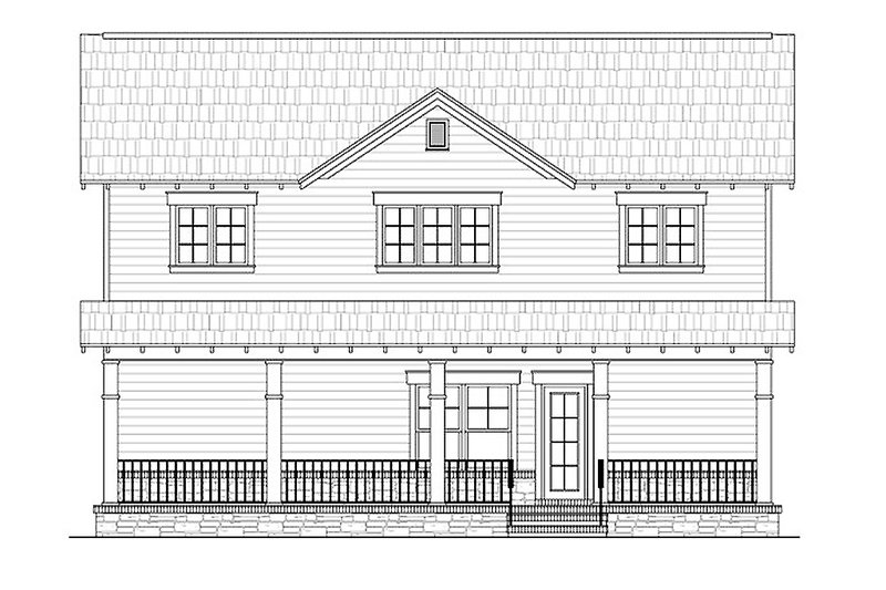 Craftsman Exterior - Rear Elevation Plan #21-265 - Houseplans.com