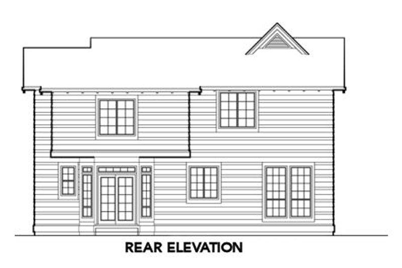 Traditional Exterior - Rear Elevation Plan #48-378 - Houseplans.com