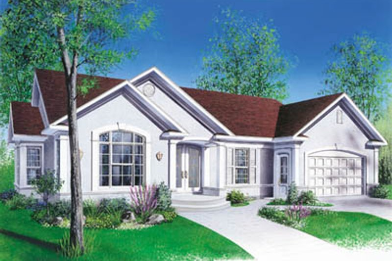 Traditional Style House Plan - 3 Beds 1 Baths 1494 Sq/Ft Plan #23-132 Exterior - Front Elevation