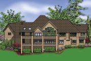 Craftsman Style House Plan - 4 Beds 3.5 Baths 5155 Sq/Ft Plan #48-607 Exterior - Rear Elevation