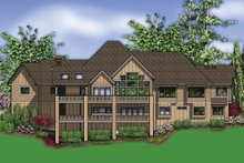 Dream House Plan - Rear View - 5100 Square foot Craftsman home