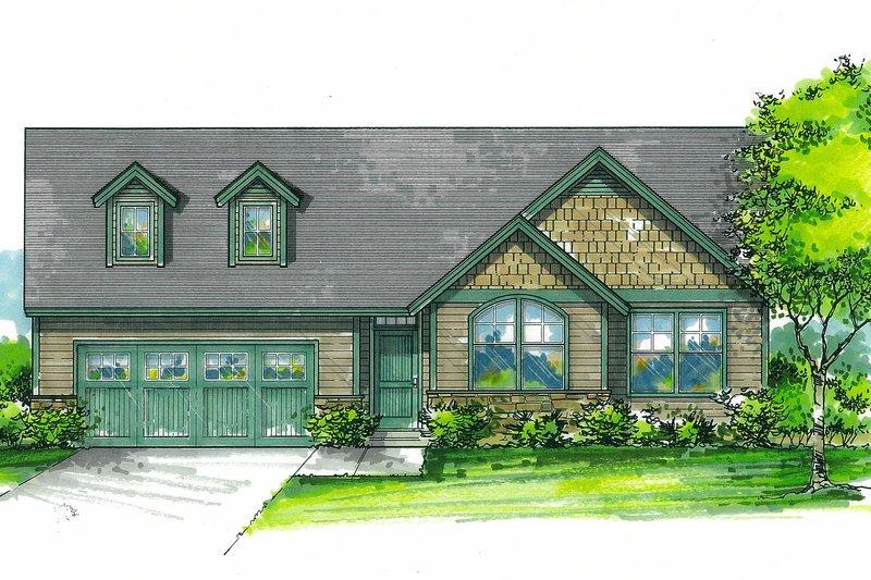 Craftsman Exterior - Front Elevation Plan #53-611
