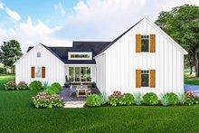 House Plan Design - Farmhouse Exterior - Rear Elevation Plan #406-9667