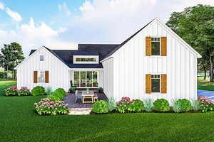 Home Plan - Farmhouse Exterior - Rear Elevation Plan #406-9667