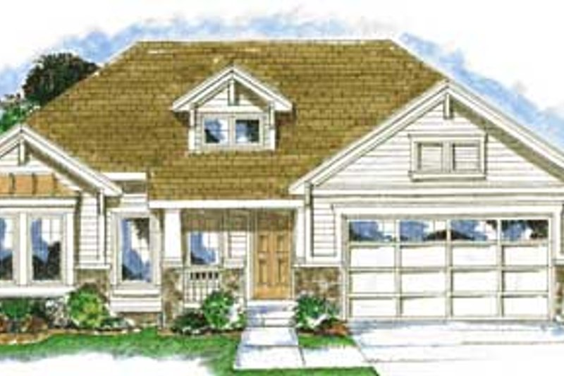 Traditional Exterior - Front Elevation Plan #20-1369 - Houseplans.com
