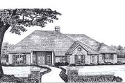Traditional Style House Plan - 3 Beds 2.5 Baths 2113 Sq/Ft Plan #310-930 Exterior - Front Elevation