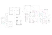 European Style House Plan - 3 Beds 5.5 Baths 5250 Sq/Ft Plan #408-104 Floor Plan - Main Floor Plan