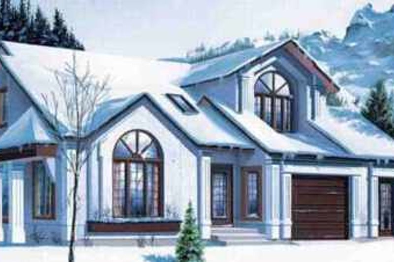 European Style House Plan - 3 Beds 2 Baths 1514 Sq/Ft Plan #25-2291 Exterior - Front Elevation