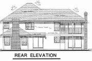 Traditional Style House Plan - 4 Beds 2.5 Baths 2729 Sq/Ft Plan #18-8965 Exterior - Rear Elevation
