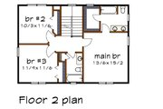 Modern Style House Plan - 3 Beds 2.5 Baths 1571 Sq/Ft Plan #79-298 Floor Plan - Upper Floor