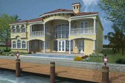 Mediterranean Style House Plan - 6 Beds 7.5 Baths 6664 Sq/Ft Plan #420-191 Exterior - Rear Elevation