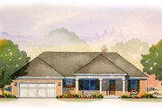 Ranch Style House Plan - 3 Beds 2.5 Baths 1712 Sq/Ft Plan #901-63 Exterior - Front Elevation