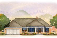 Ranch Exterior - Front Elevation Plan #901-63