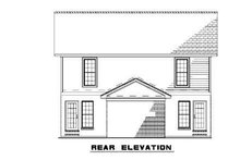 Southern Exterior - Rear Elevation Plan #17-2270