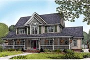 Farmhouse Style House Plan - 4 Beds 2.5 Baths 2433 Sq/Ft Plan #11-213 Exterior - Front Elevation