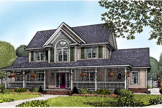Farmhouse Exterior - Front Elevation Plan #11-213