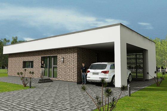 Modern Exterior - Front Elevation Plan #538-12