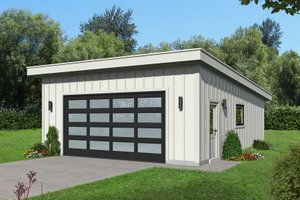 Contemporary Exterior - Front Elevation Plan #932-117