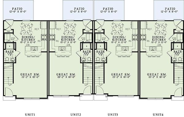 Traditional Floor Plan - Main Floor Plan Plan #17-2468