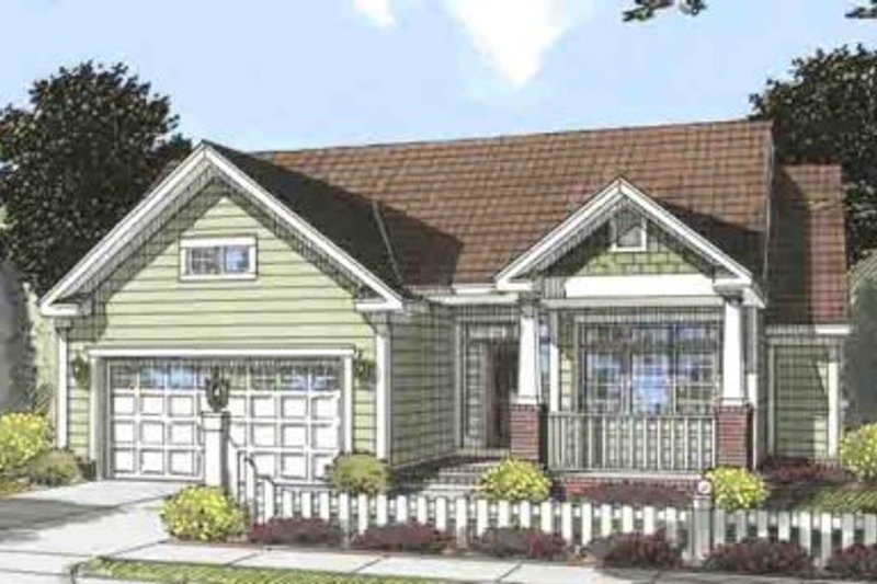 Craftsman Exterior - Front Elevation Plan #20-1533