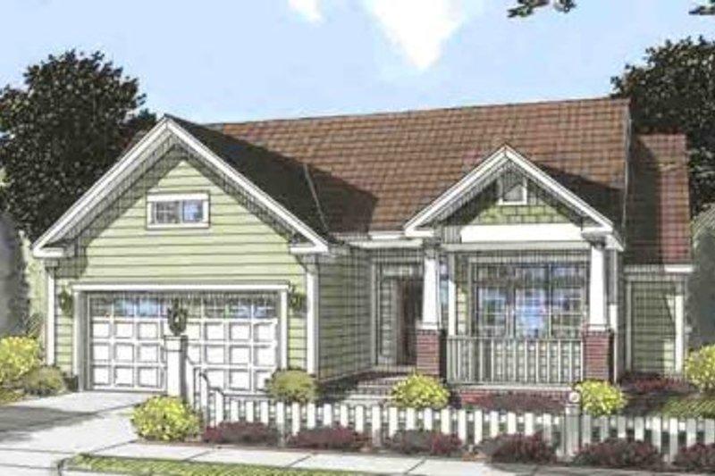 Dream House Plan - Craftsman Exterior - Front Elevation Plan #20-1533