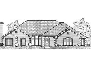 Traditional Exterior - Front Elevation Plan #65-183