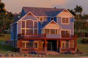 Craftsman Style House Plan - 3 Beds 2.5 Baths 2500 Sq/Ft Plan #1064-14 Exterior - Rear Elevation