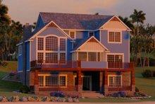 Craftsman Exterior - Rear Elevation Plan #1064-14
