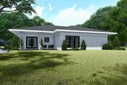 Contemporary Style House Plan - 3 Beds 2 Baths 1438 Sq/Ft Plan #923-140 Exterior - Rear Elevation