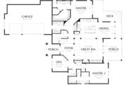 Craftsman Style House Plan - 4 Beds 3.5 Baths 3084 Sq/Ft Plan #48-615 Floor Plan - Main Floor Plan