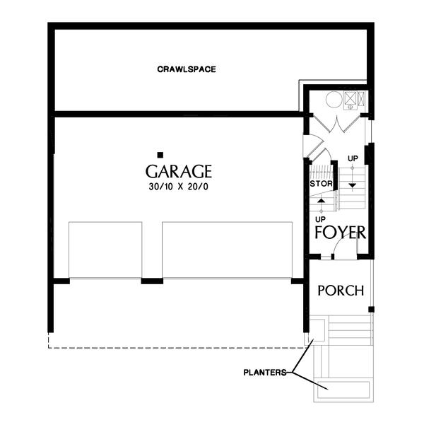 Contemporary Floor Plan - Lower Floor Plan Plan #48-1009