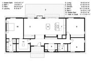 Ranch Style House Plan - 3 Beds 2 Baths 2040 Sq/Ft Plan #497-50 Floor Plan - Main Floor
