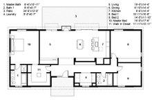 Ranch Floor Plan - Main Floor Plan Plan #497-50