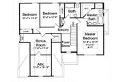 Traditional Style House Plan - 4 Beds 2.5 Baths 1850 Sq/Ft Plan #46-495 Floor Plan - Upper Floor