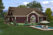 Dream House Plan - Craftsman Exterior - Rear Elevation Plan #56-698
