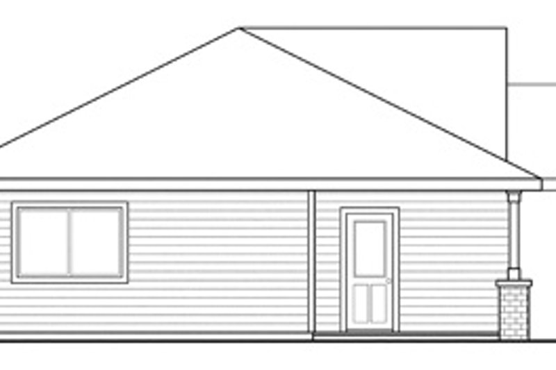 Traditional Exterior - Other Elevation Plan #124-851 - Houseplans.com