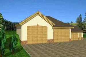 Architectural House Design - Traditional Exterior - Front Elevation Plan #117-264