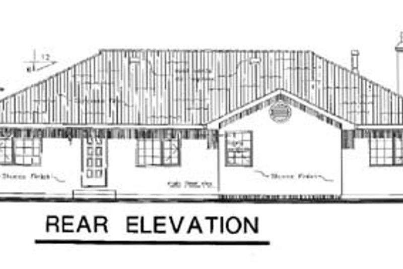 European Exterior - Rear Elevation Plan #18-141 - Houseplans.com