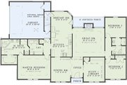 European Style House Plan - 3 Beds 2 Baths 2092 Sq/Ft Plan #17-111 Floor Plan - Main Floor Plan