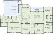 European Style House Plan - 3 Beds 2 Baths 2092 Sq/Ft Plan #17-111 Floor Plan - Main Floor Plan