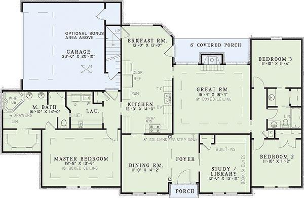 European Floor Plan - Main Floor Plan Plan #17-111