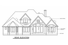 European Exterior - Rear Elevation Plan #20-967
