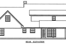 Dream House Plan - Country Exterior - Rear Elevation Plan #42-345