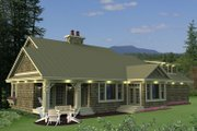 Craftsman Style House Plan - 3 Beds 2.5 Baths 1999 Sq/Ft Plan #51-550 Exterior - Rear Elevation