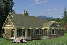House Plan Design - Craftsman Exterior - Rear Elevation Plan #51-550