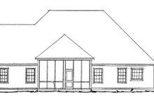 Traditional Exterior - Rear Elevation Plan #20-1365
