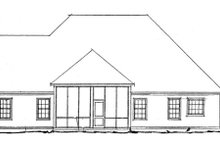 Dream House Plan - Traditional Exterior - Rear Elevation Plan #20-1365