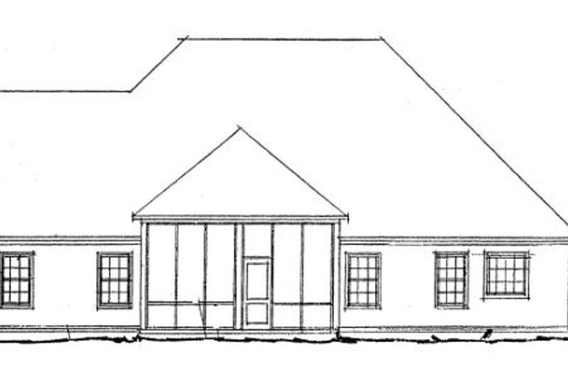Traditional Exterior - Rear Elevation Plan #20-1365 - Houseplans.com